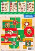 Christmas Borders Paper Embroidery A5 Booklet
